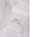 Zlatý dámsky prsteň DF 5036 z ružového zlata, farebné kamene