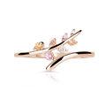 Zlatý dámský prsten DF 5061 z růžového zlata, barevné kameny