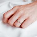 Aria | Zásnubný prsteň so stredovým kameňom 0.25 ct, ružové zlato, s diamantmi