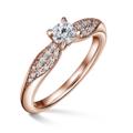 Luna   Zásnubný prsteň so stredovým kameňom 0.25 ct, ružové zlato, s diamantmi
