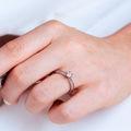 Minerva Side Stones | Zásnubný prsteň so stredovým kameňom 0.25 ct, ružové zlato, s diamantmi