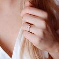 Arlene   Zásnubný prsteň so stredovým diamantom 0.730ct, žlté zlato