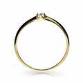 Zlatý zásnubný prsteň DF 2931, žlté zlato, s briliantom