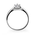 Zlatý zásnubní prsten DF 2951, bílé zlato, s briliantem