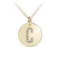 Zlatý dámský přívěsek DF 4482, písmeno C, žluté zlato, s brilianty