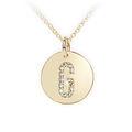 Zlatý dámský přívěsek DF 4486, písmenko G, žluté zlato, s brilianty