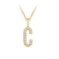 Zlatý dámský přívěsek DF 4736, písmenko C, žluté zlato, s brilianty