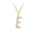 Zlatý dámský přívěsek DF 4738, písmenko E, žluté zlato, s brilianty