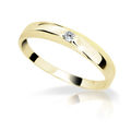 Zlatý dámsky prsteň Danfil DF1617 zo žltého zlata s briliantom