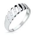 Zlatý dámsky prsteň DF 2098 z bieleho zlata, s briliantom