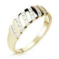Zlatý dámský prsten DF 2098 ze žlutého zlata, s brilianty