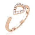 Zlatý dámsky prsteň DF 3587 z ružového zlata, s briliantmi