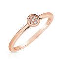 Zlatý dámsky prsteň DF 4210 z ružového zlata, s briliantom