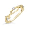 Zlatý dámsky prsteň DF 4441 zo žltého zlata, s briliantom