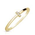Zlatý dámsky prsteň DF 4448 zo žltého zlata, s briliantom