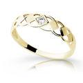 Zlatý diamantový prsteň Danfil DF1912 zo žltého zlata