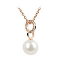 Zlatý prívesok s perlou DF 3155, ružové zlato, sladkovodné