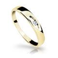 Zlatý prsteň Danfil DF1281 zo žltého zlata s briliantom