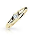 Zlatý prsteň Danfil DF1633 zo žltého zlata s briliantom