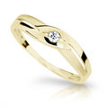 Zlatý prsteň Danfil DF1776 zo žltého zlata s briliantom