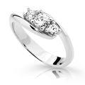 Zlatý prsteň Danfil DF2333 z bieleho zlata s briliantom