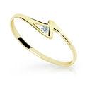 Zlatý prsten DF 1138 ze žlutého zlata, s briliantem