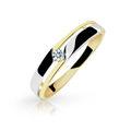 Zlatý prsten DF 1660 ze žlutého zlata, s briliantem