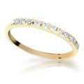 Zlatý prsteň DF 1670 zo žltého zlata, s briliantom