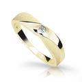 Zlatý prsten DF 1760 ze žlutého zlata, s briliantem