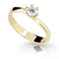 Zlatý prsten DF 1903 ze žlutého zlata, s briliantem