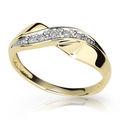 Zlatý prsten DF 1915 ze žlutého zlata, s briliantem