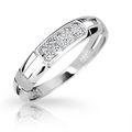 Zlatý prsteň DF 2033 z bieleho zlata, s briliantom