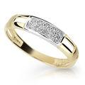 Zlatý prsteň DF 2033 zo žltého zlata, s briliantom