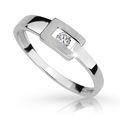 Zlatý prsteň DF 2039 z bieleho zlata, s briliantom