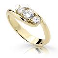 Zlatý prsten DF 2333 ze žlutého zlata, s briliantem