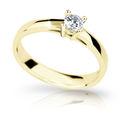 Zlatý zásnubní prsten DF 1902, žluté zlato, s briliantem