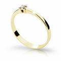 Zlatý zásnubní prsten DF 1904, žluté zlato, s briliantem