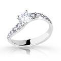 Zlatý zásnubní prsten DF 2102, bílé zlato, s diamantem