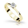 Zlatý zásnubný prsteň Danfil DF1895, žlté zlato s diamantom