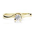 Zlatý zásnubný prsteň DF 1855, žlté zlato, s briliantom