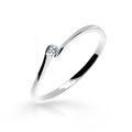 Zlatý zásnubný prsteň DF 2947, biele zlato, s briliantom