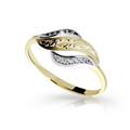 Zlatý dámsky prsteň DF 2982 zo žltého zlata, s briliantom