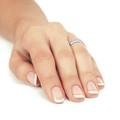 Zlatý dámsky prsteň DF 3192 z bieleho zlata, s briliantom