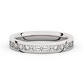 Zlatý dámsky prsteň DF 3894 z bieleho zlata, s briliantom
