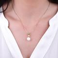 Zlatý prívesok s perlou DF 2661, žlté zlato, sladkovodné