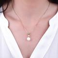 Zlatý prívesok s perlou DF 2661, ružové zlato, sladkovodné