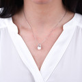 Zlatý perlový prívesok DF 3154, biele zlato, sladkovodné