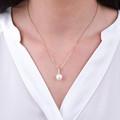 Zlatý perlový prívesok DF 3166, ružové zlato, sladkovodné