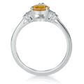 Zlatý zásnubný prsteň DF 4292, biele zlato, citrín