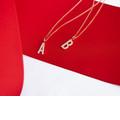 Zlatý dámsky prívesok DF 4734, červené (ružové) zlato, s briliantom